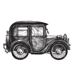 car vintage logo design template transport vector image vector image