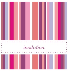 Card or invitation for party or wedding vector image vector image