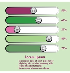 chart with buttons vector image vector image