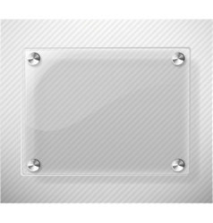 glass plate on white background vector image
