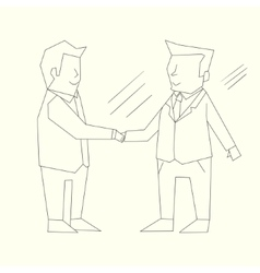 Handshake businessmen black and white vector
