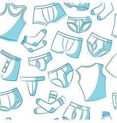 male underwear doodle pattern vector image vector image