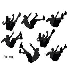 Man in falling pose on white background vector