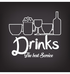 menu drinks service icon vector image