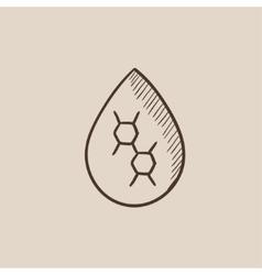 Oil drop sketch icon vector