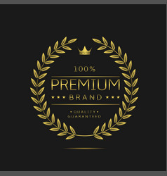 Premium brand label vector