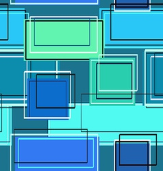 Seamless pattern of rectangles vector image