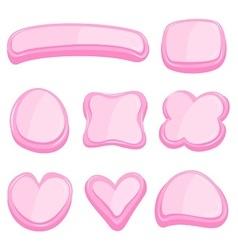 set of pink frame vector image vector image