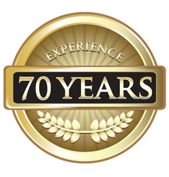 Seventy years experience gold vector