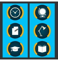 Six items related to education vector