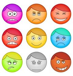 smilies round set vector image