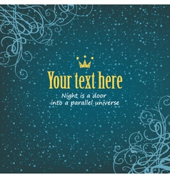 snow and curls vector image