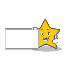 Star character cartoon style with board vector