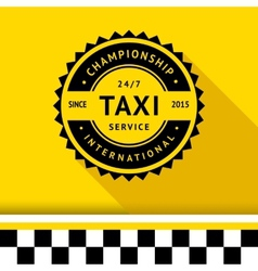 Taxi badge 10 vector