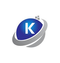 technology motion synergy letter k vector image vector image