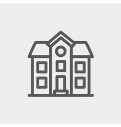 Two storey house building thin line icon vector