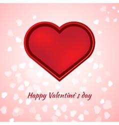 Valentines day card on pink background vector image vector image