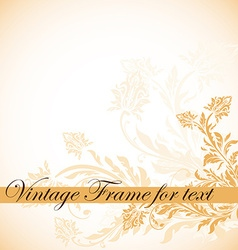 Vintage frame for text vector