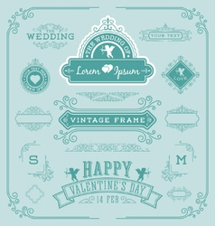 Vintage frame with flourishes vector image