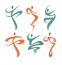 Abstract dancing vector