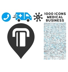 Atm map marker icon with 1000 medical business vector