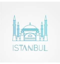 Hagia sophia - the symbol of turkey istanbul vector