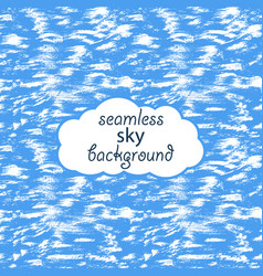seamless background of bright blue summer sky vector image