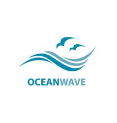 Ocean wave logo vector
