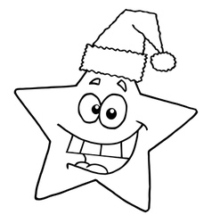 Christmas star cartoon vector