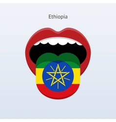 Ethiopia language abstract human tongue vector