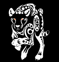 Tiger run tribal vector
