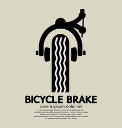 Bicycle brake graphic vector