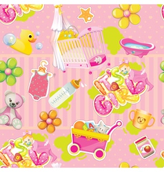 Its a girl pattern vector