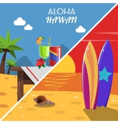 Beach banner set vector