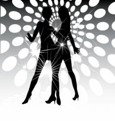Dance floor lights vector