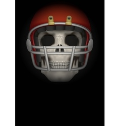 Dark background of american football vector