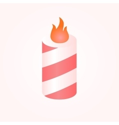 Colorful birthday candles whit flame vector
