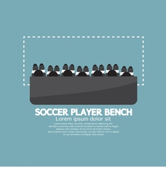 Top view of soccer player bench vector