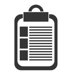 Black and white check list graphic vector