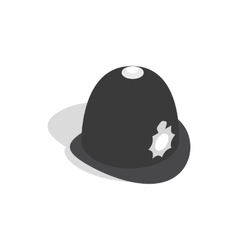 Hat english police icon isometric 3d style vector