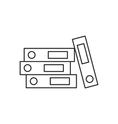 Outline document folder icon vector