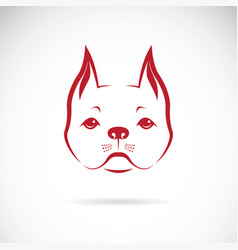 A dog face on a white background bulldog pet vector