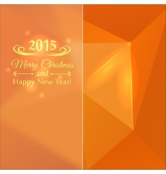 Abstract mosaic orange color vector image vector image
