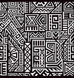 aztec seamless pattern vector image vector image
