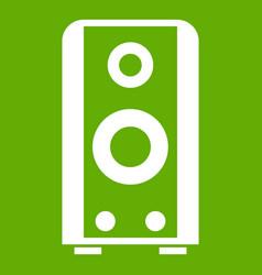 black sound speaker icon green vector image