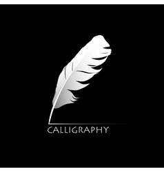 Calligraphic pen vector image