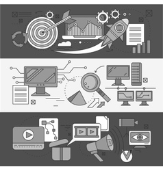 Concept Search Engine Optimization vector image vector image