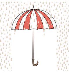 Cute cartoon umbrella vector