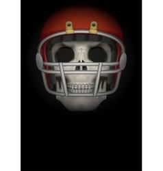 Dark Background of american football vector image