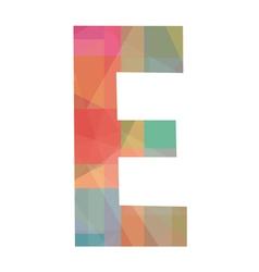 E alphabet vector image